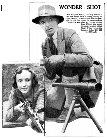 Coaching fourteen-year-old Joan Williams in 1931