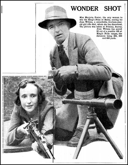 Coaching fourteen-year-old Joan Williams in 1931
