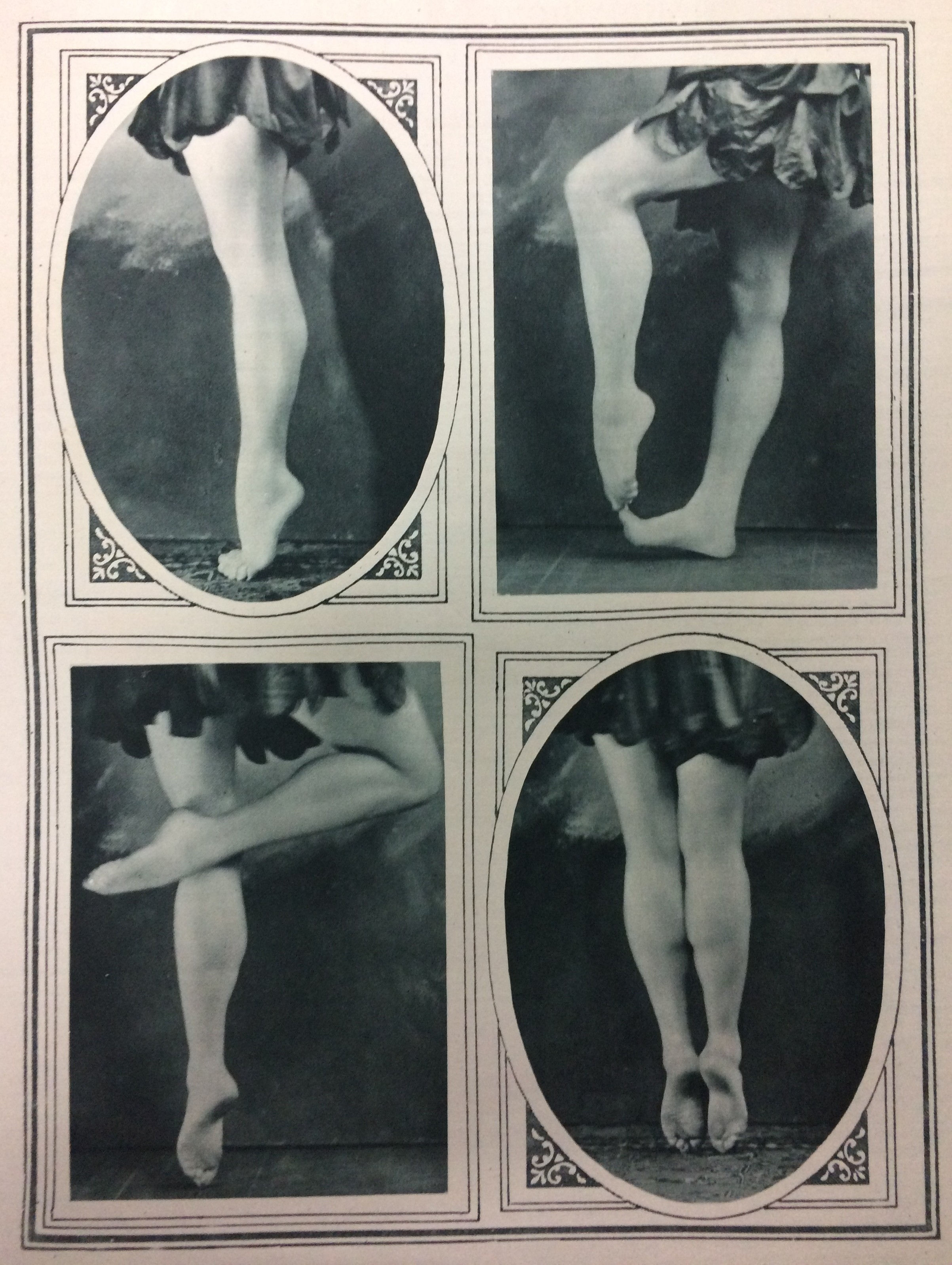 The original caption in 'The Sketch' in June 1919 read: 'Feats of the unaided feet...for toe-dancing, it will be noted, she can disdain the use of toe-caps...' Feet photographed by Malcolm Arbuthnot.