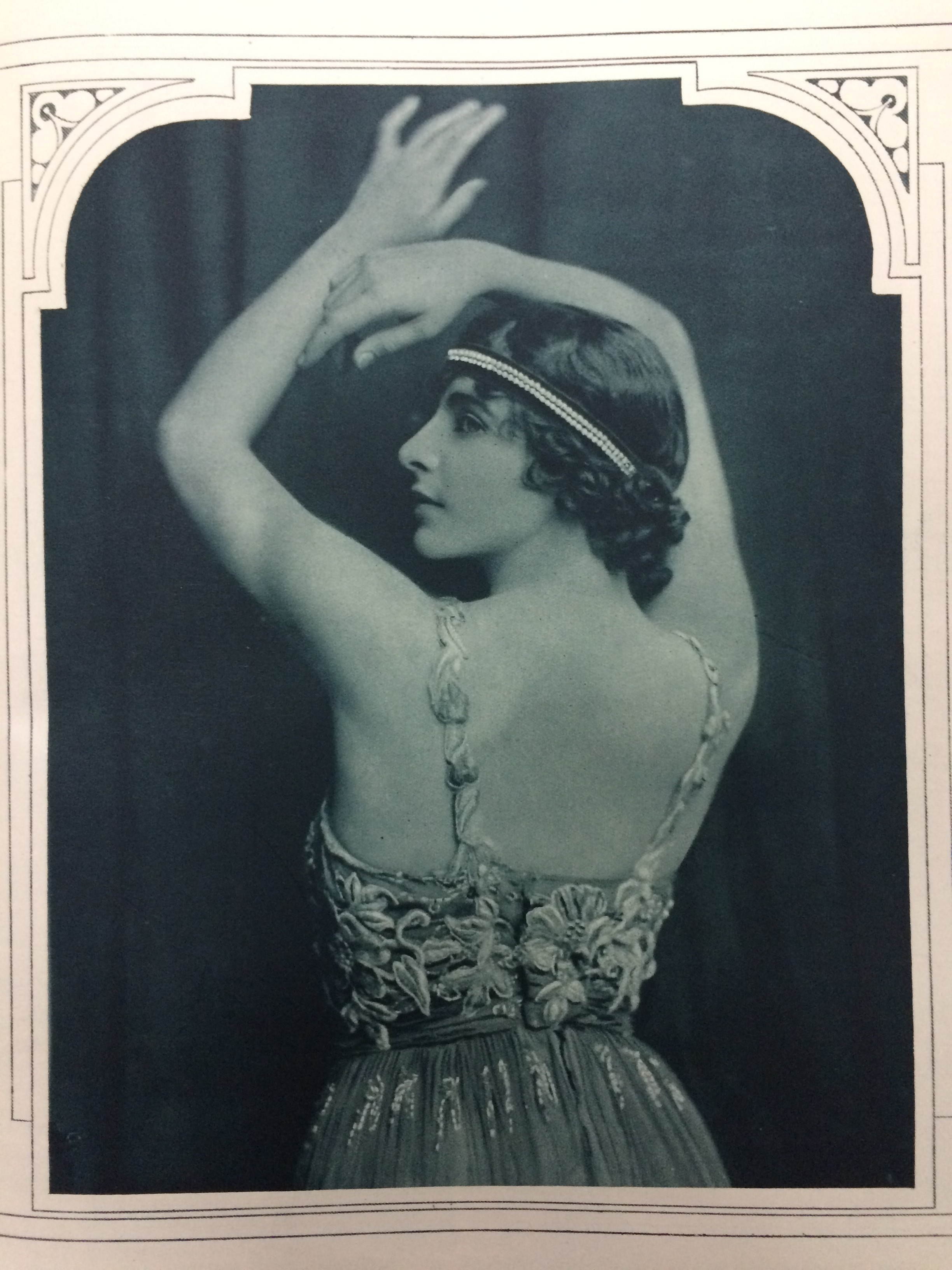 Ivy in her character from 'Topsy Turvey' in the society magazine 'The Sketch', 5 September 1917, photographed by Malcolm Arbuthnot. Ivy's dance was described as 'weird, passionate and highly dramatic.'