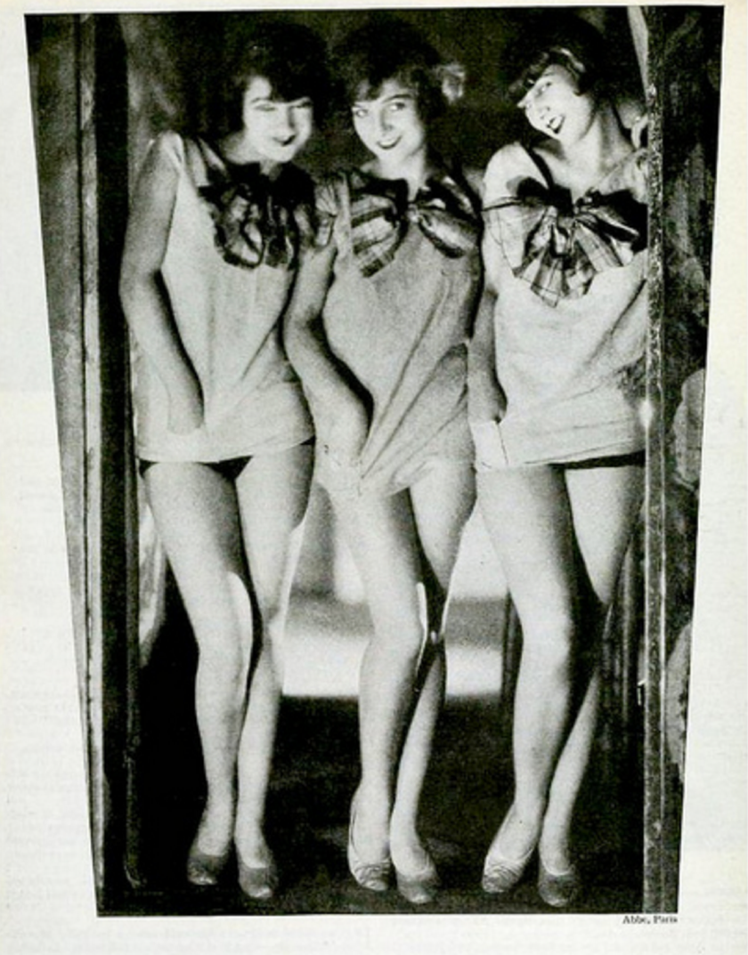 The sisters with an unknown dancer, photographed by James Abbe in Paris, circa 1927