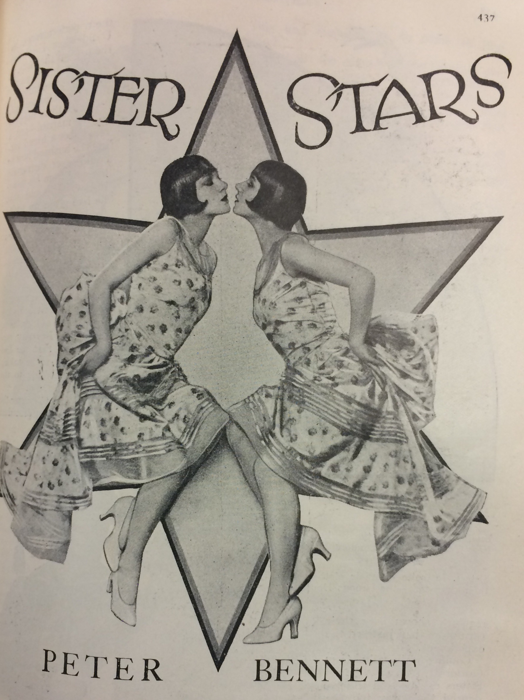 A black and white version of Dorothy Wilding's portrait of the sisters. This appeared, uncredited, in an article in 'The Royal Magazine' in which Peter Bennett interviewed some of the 'most talented' sister acts