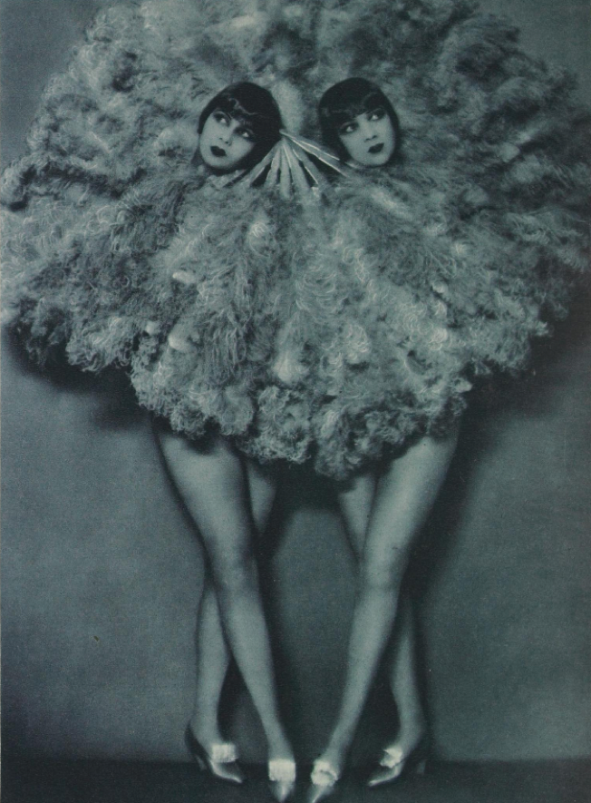 The sister photographed by Manassé, c.1928